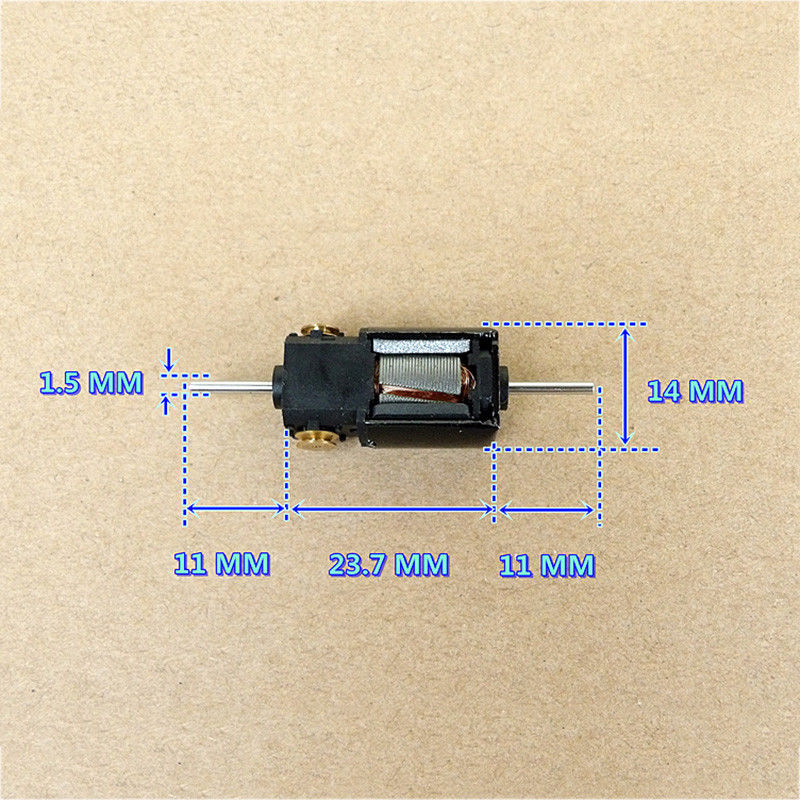 DC 6V-12V 36500RPM High Speed Dual Shaft Axis 5-Pole Rotor Motor DIY RC Car Boat