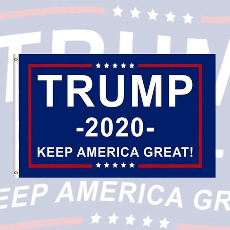 """2020 Re-Elect President Donald Trump 3/"""" Button Let/'s Keep America Great Flag Pin"""