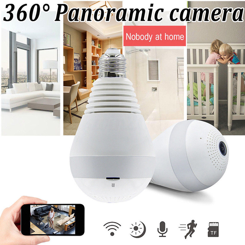 New 360 Panoramin Smart Home Wifi Camera LED Bulb Home Security Camcorder V380