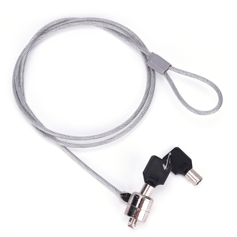 Anti-Theft Notebook Laptop PC Computer Desktop Key Security Lock Chain Cable