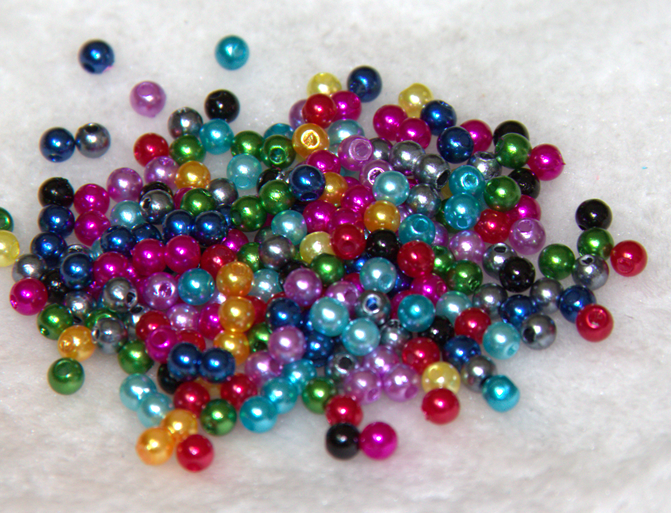 500pcs Mixed Czech Glass Pearl Round Loose Spacer Beads 4mm Spacer Fit J JLI
