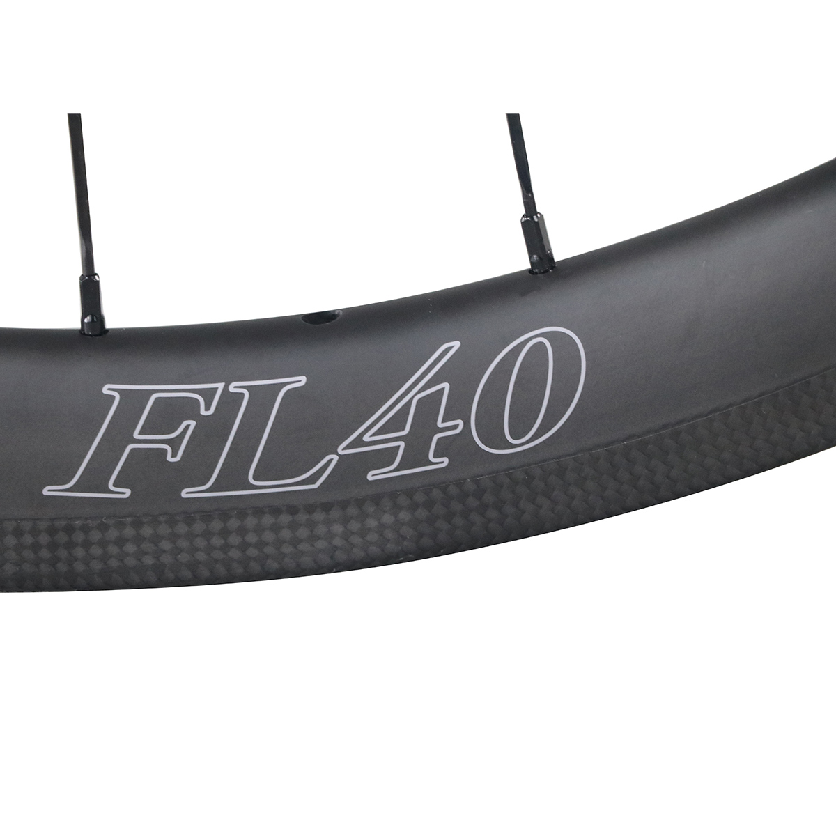 ICAN-Carbon-Fiber-Road-Bike-Wheelset-40mm-Clincher-Tubeless-Ready thumbnail 7