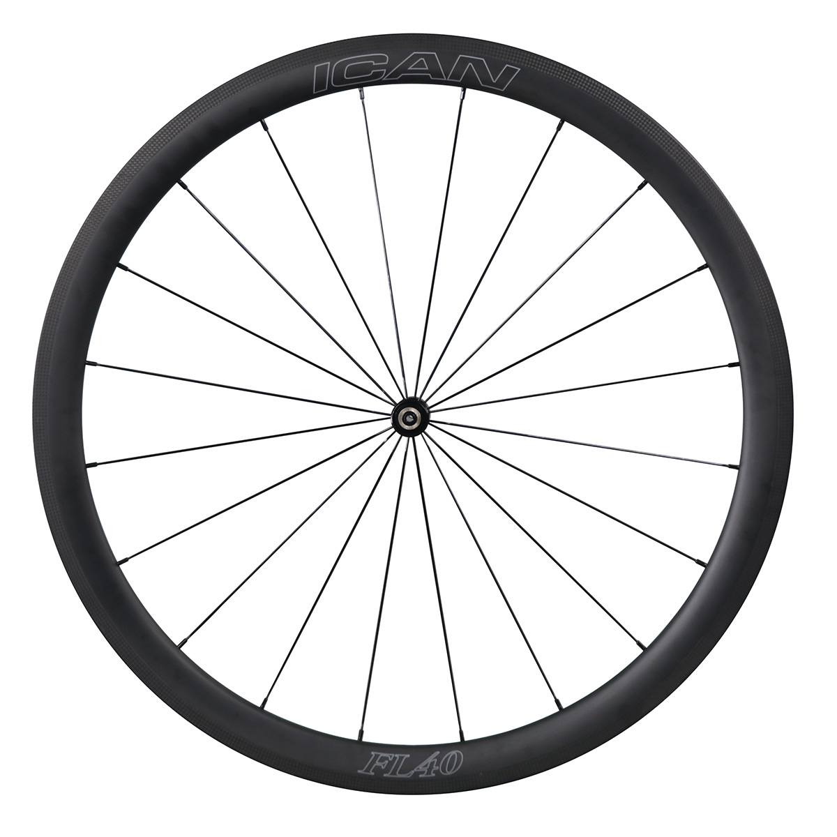 ICAN-Carbon-Fiber-Road-Bike-Wheelset-40mm-Clincher-Tubeless-Ready thumbnail 4