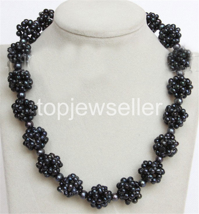 """18/"""" 17mm white Freshwater pearls beads ball necklace j10678"""