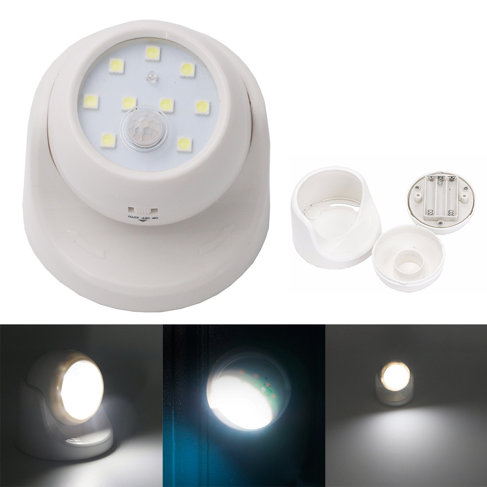 Perfect Motion Activated Cordless Sensor LED Light Indoor/&Outdoor 360° Rotatable