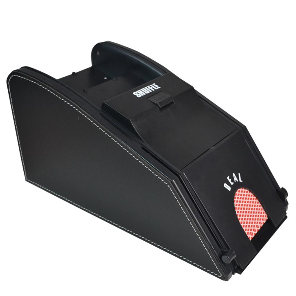 Automatic Playing Card Shuffler Wooden Electric Automaoard Card Shuffler 2 Deck