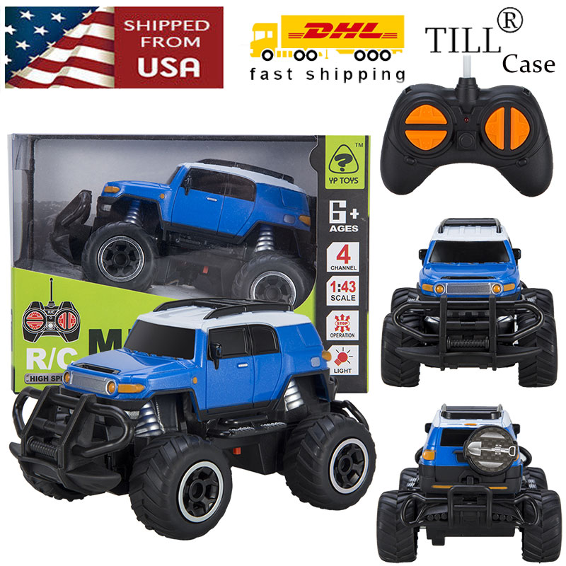 Electrionic Rc Car Toys Blue Vehicle Remote Control Off Road Baby