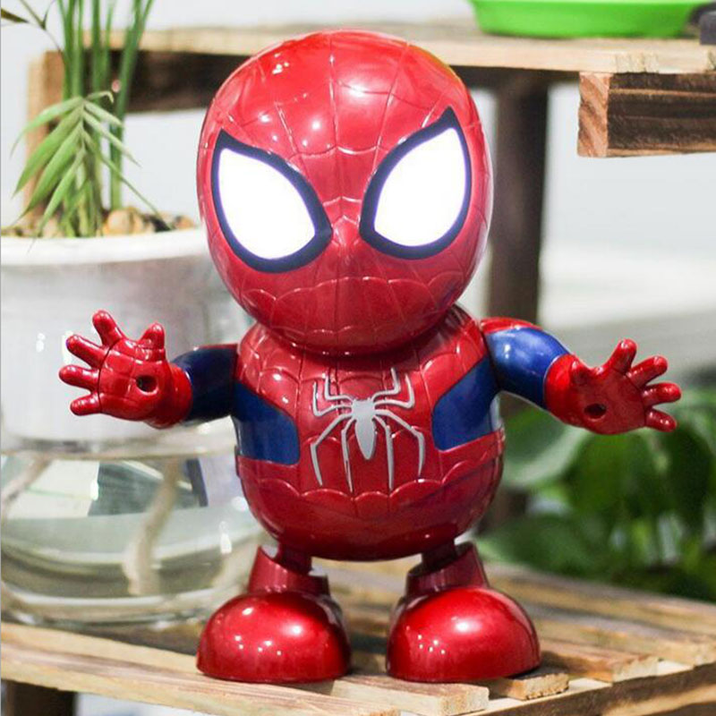 Kids Toys Dancing Hero Spider Man Sound Led Light Robots Kids Toys Xmas Gifts