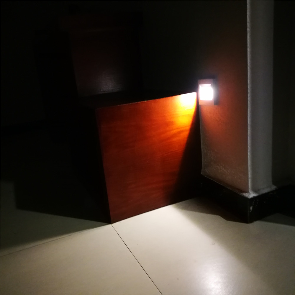 1/5/10X Motion Sensor LED Wall Lights Recessed Footlight Stairs ... for Wall Foot Light  111bof