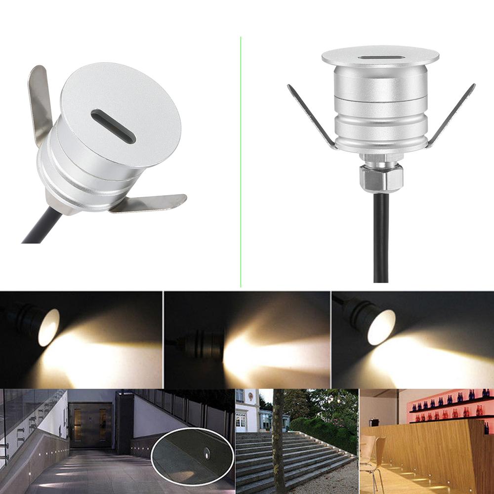 10er set 12v 1w led treppen einbaustrahler au en lampe einbauleuchte beleuchtung ebay. Black Bedroom Furniture Sets. Home Design Ideas