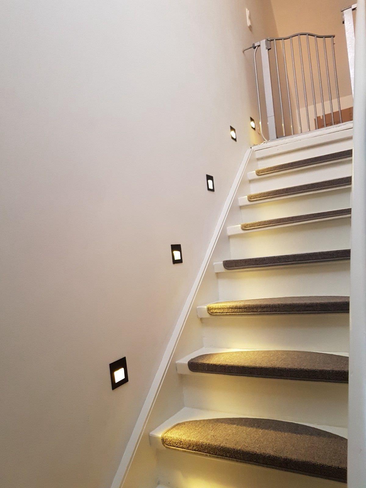 Stufenlicht Led 4er 8er 12er 2w warmweiß 230v led wandeinbauleuchte treppe