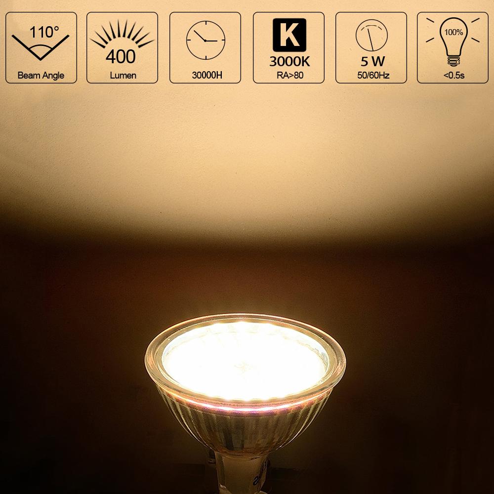1 6 10er 5w mr16 12v led lampen birne leuchte licht smd warmwei lampe strahler ebay. Black Bedroom Furniture Sets. Home Design Ideas
