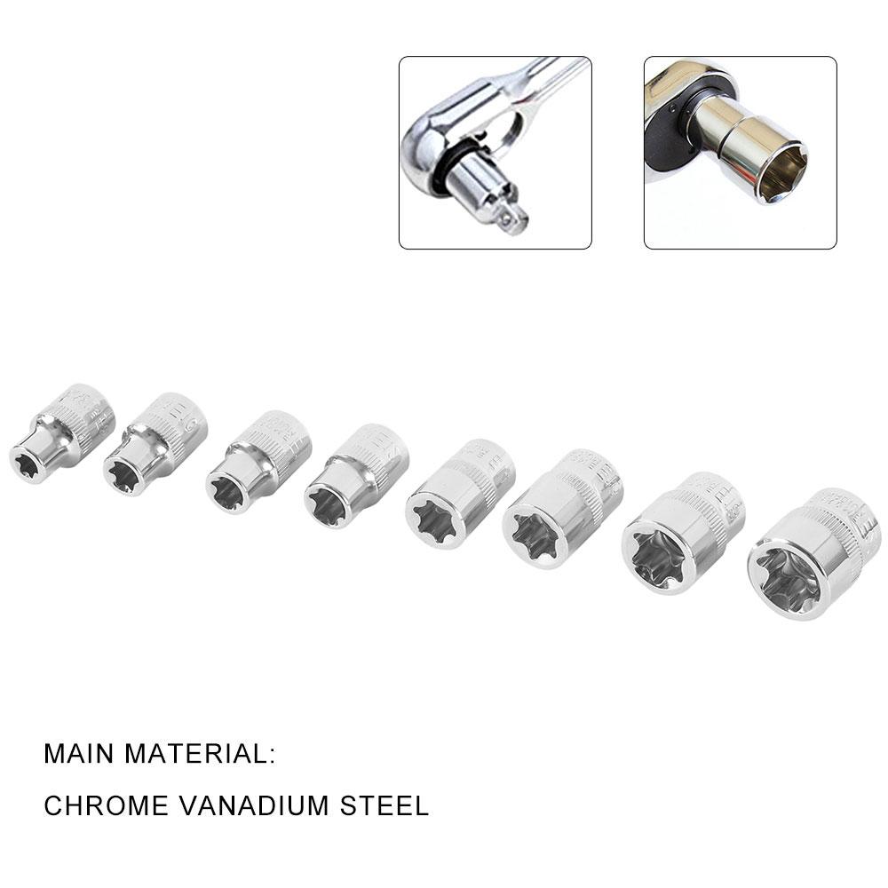 14PCS Torx Star Bit Female E Socket Set Automotive Shop Tools External E4-E24