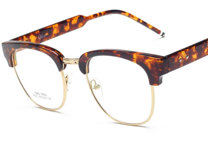 LE Italian Large Frames Half Glasses Optical Rx Prescription Eyewear ...