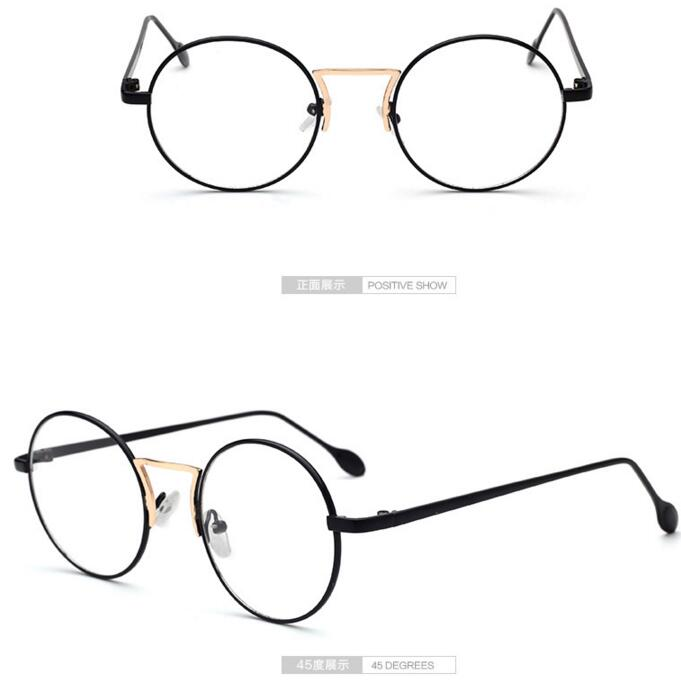 8d05d94fc6 LE Korean Small Round Classic Optical Frames Myopia Prescription Metal  Glasses
