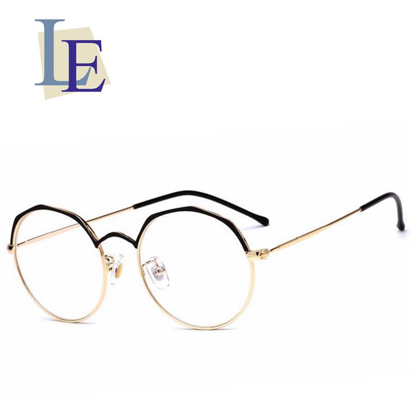 LE Irregular Round Glasses Frames Polygon Metal Prescription Eyewear ...