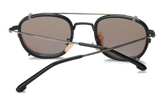 Clip On Magnet Sunglasses Rx Metal Eyeglasses Frames Magnetic Unisex Glasses