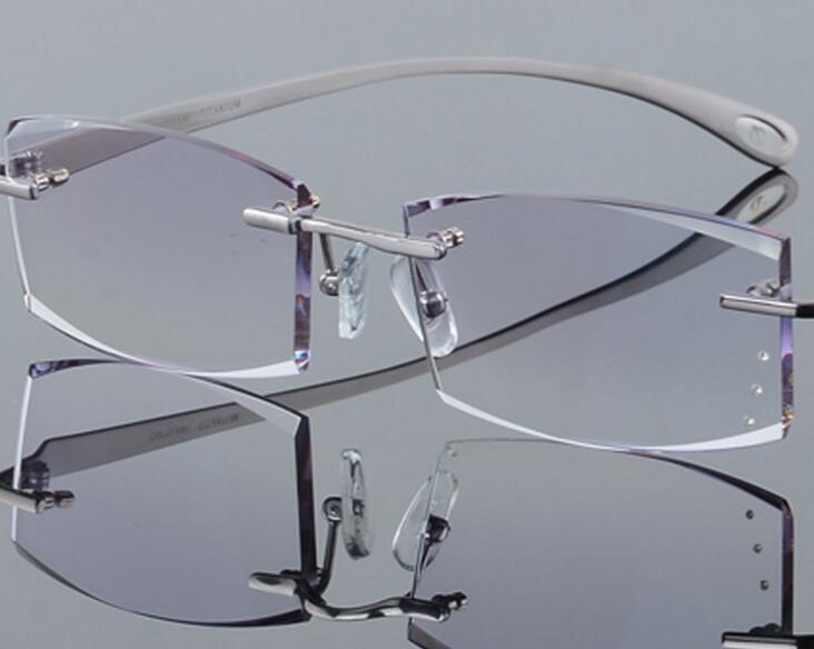 c49974e92691 Details about LE Men s Pure Titanium Multifocal Progressive Myopia Reading  Glasses Frame