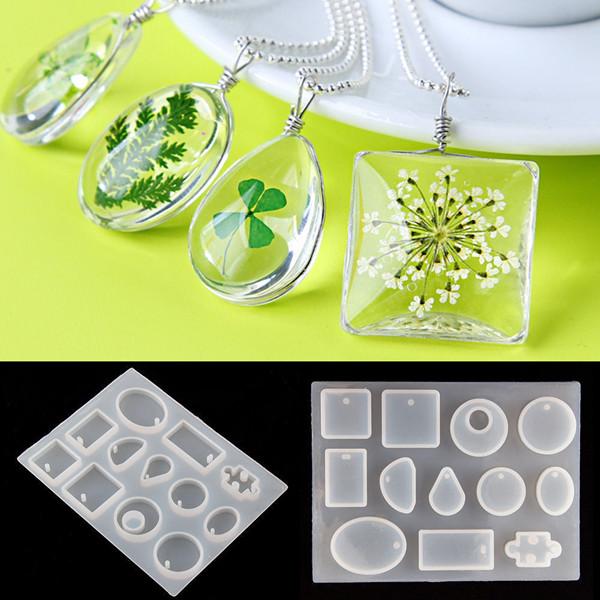 12 Stampo in silicone Ciondolo Gioielli per Collana resina stampo fai da te strumento Craft