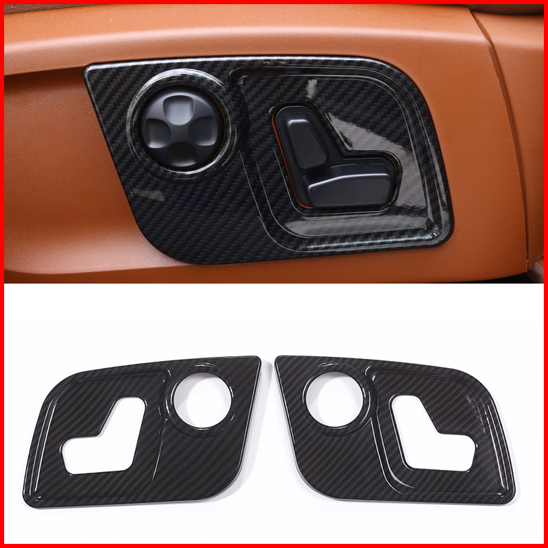 Car ABS Plastic Interior Navigation box Frame Cover Trim Accessories for Maserati Levante 2016 2017 2018 carbon fiber style