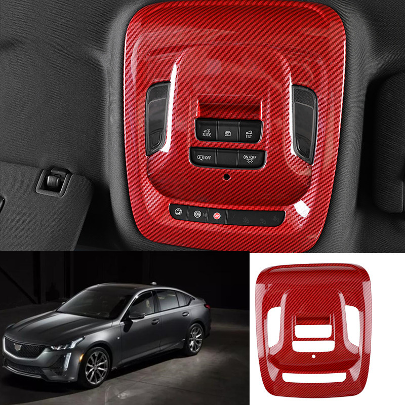 For Cadillac Ct5 2019-2020 Red Carbon Fiber Car Front