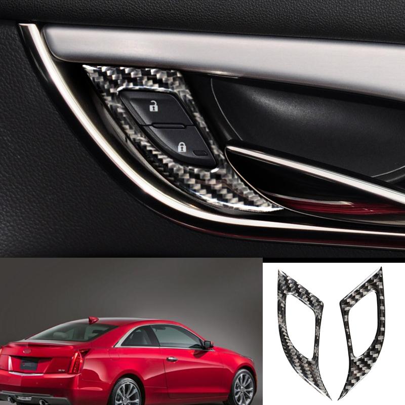 For Cadillac ATS 2013-2019 Carbon Fiber Interior Door