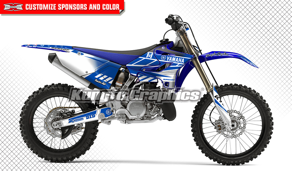 Mx graphics custom decal kit for yamaha yz125 yz250 yz250x for Yamaha replacement decals