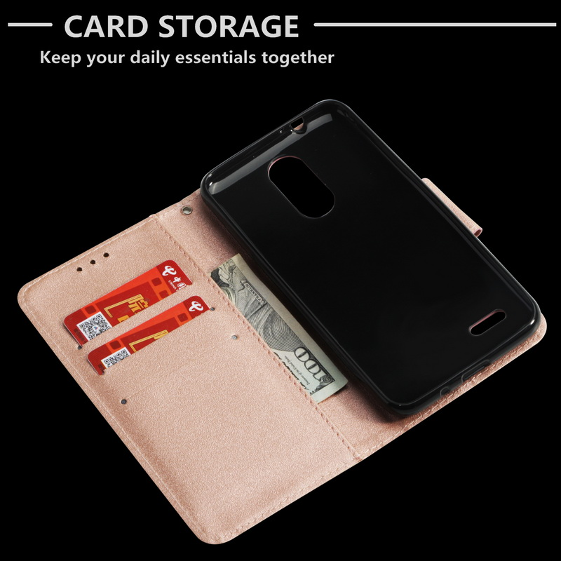 Cover For LG K8 2018 Premium Leather Flip Book Wallet Dust-Proof Case
