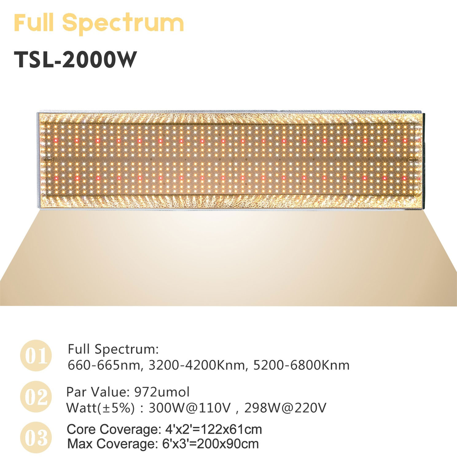 Mars Hydro Ts 600w 1000w 2000w 3000w Led Grow Light Full