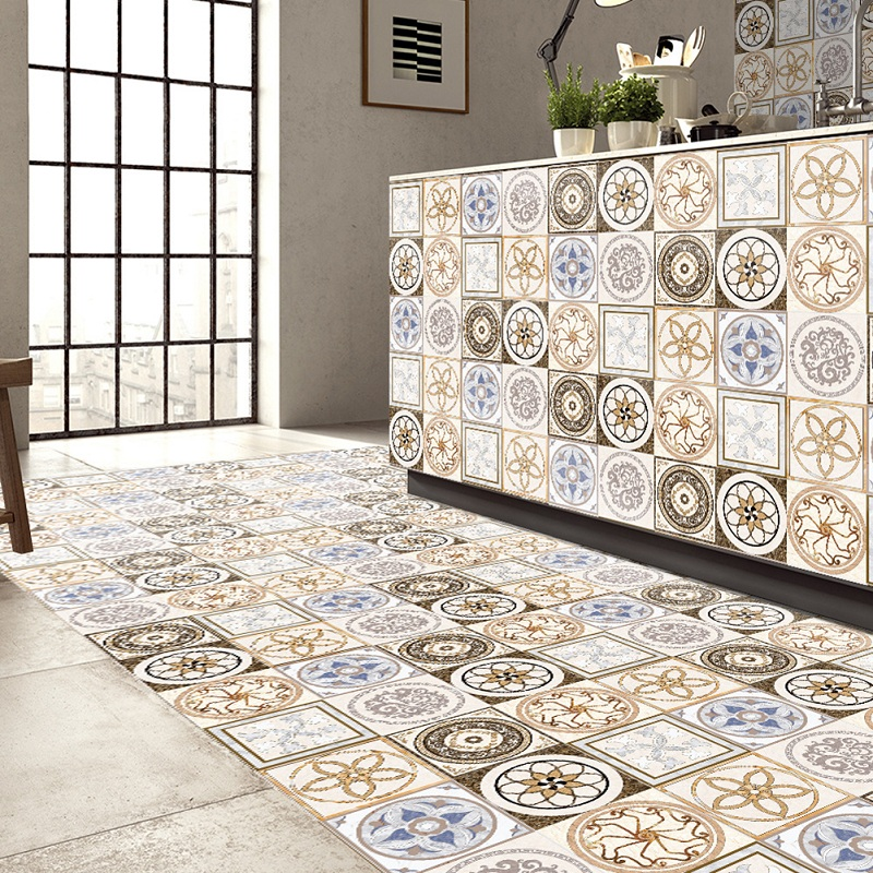 Self Adhesive Tile Stickers Wall Kitchen Bathroom Floor