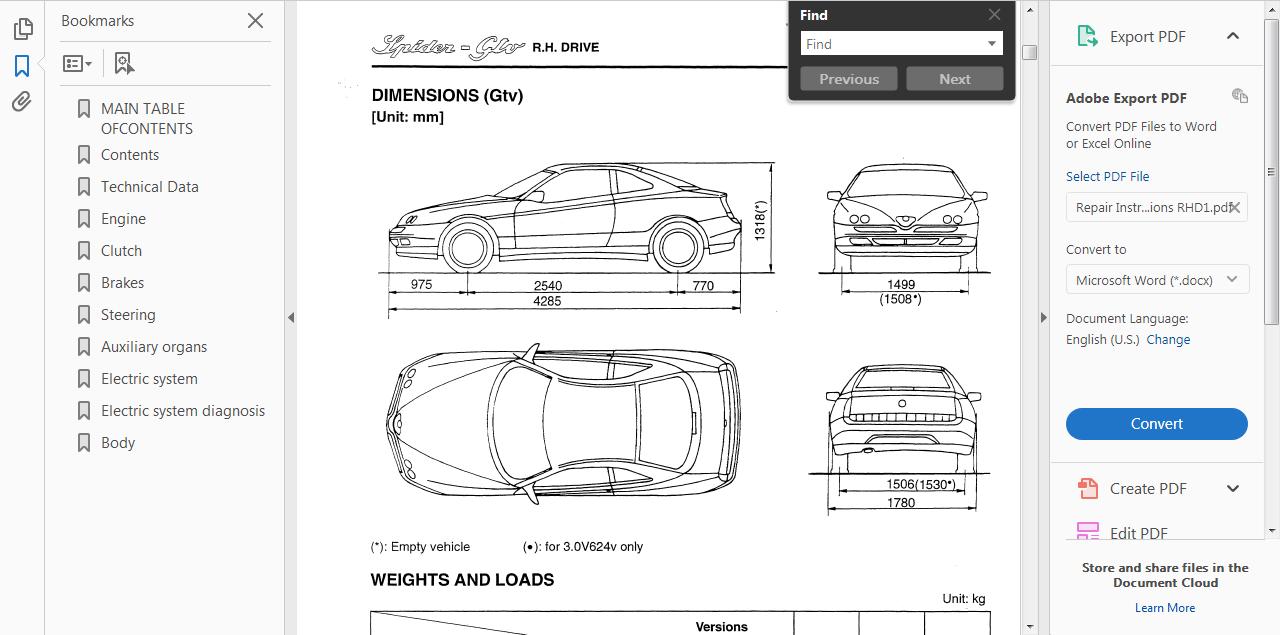 3. >> OFFICIAL WORKSHOP Manual Service Repair Alfa Romeo Spider ...