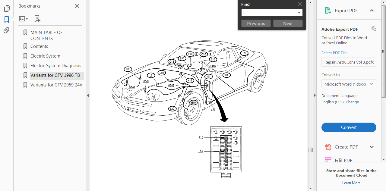 Official Workshop Manual Service Repair Alfa Romeo Spider Gtv 1995 Engine Diagram Picture 6 Of