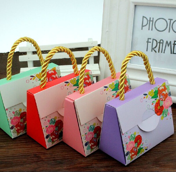 Details About 50pcs Cute Handbag Wedding Birthday Favor Party Boxes Gift Candy Baby Shower Box