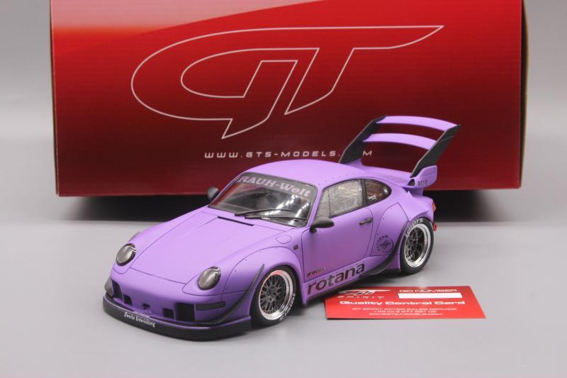 "GT Spirit 1:18 Porsche  993 RWB pink pig ""Sopranos"" Resin Model RARE"