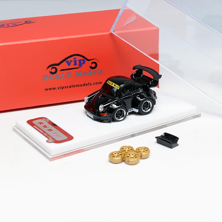You/&Car Furuyg 1:64 Scale Porsche RWB 993 Q Black Resin Model Car Limited Suits