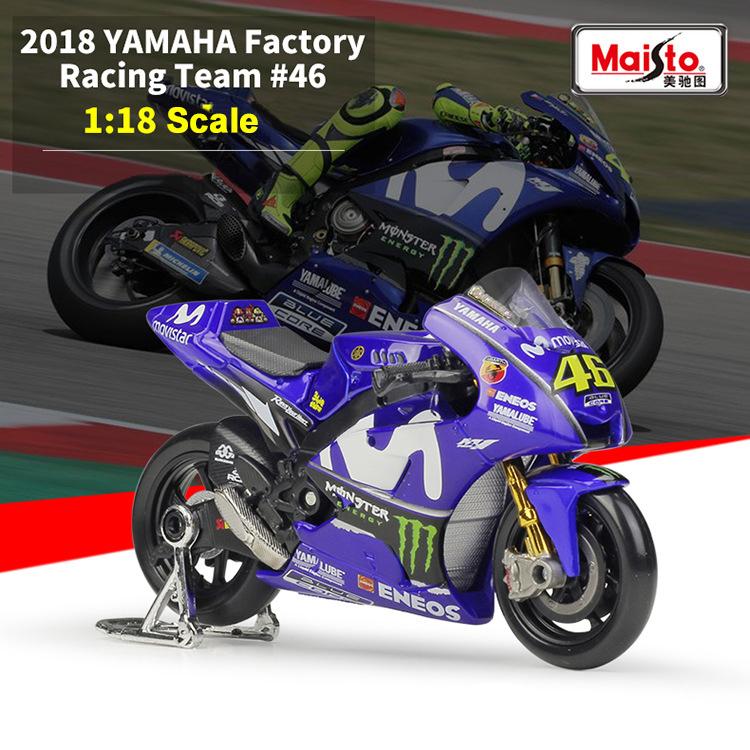 MOTO GP MOTO YAMAHA FACTORY RACING N° 46 VALENTINO ROSSI MAISTO 1//18