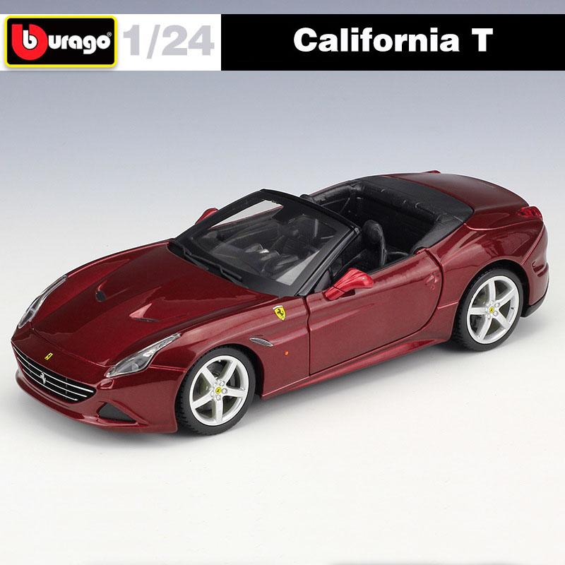 Bburago Ferrari California T Opened Top White 1//24