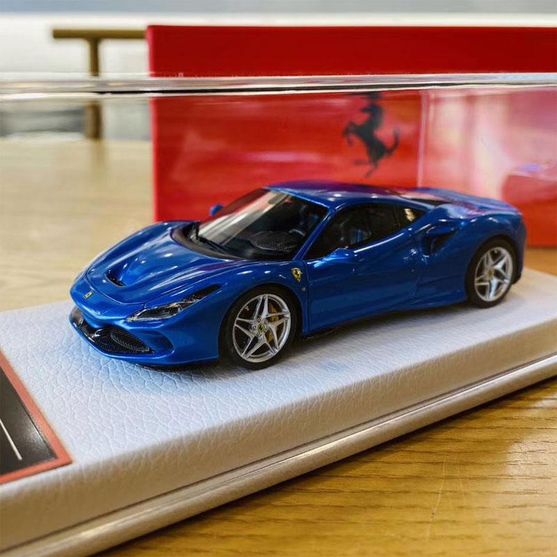 Ferrari F8 Tributo Colors: BBRMODELS 1:43 Scale Ferrari F8 Tributo Blu Corse Car
