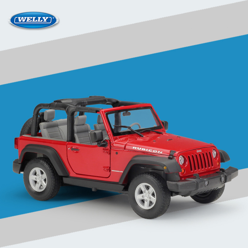 JEEP WRANGLER 2007,ROUGE 1//24 welly 22489C