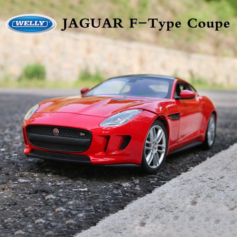Jaguar F Type: WELLY Diecast Metal Car Auto Model For JAGUAR F-Type Coupe