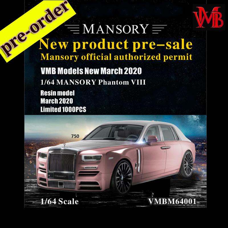 2020 VMB Model 1:64 Rolls-Royce Phantom VIII MANSORY Resin ...