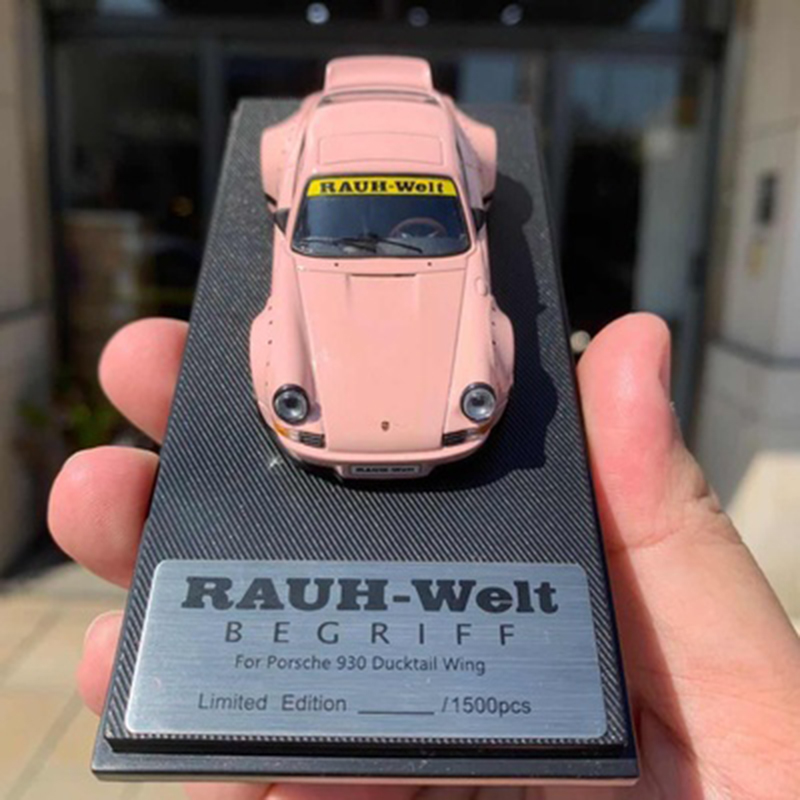 Model Collect 1//64 Scale Porsche 911 930 964 Ducktail RWB Diecast Car Model Pink