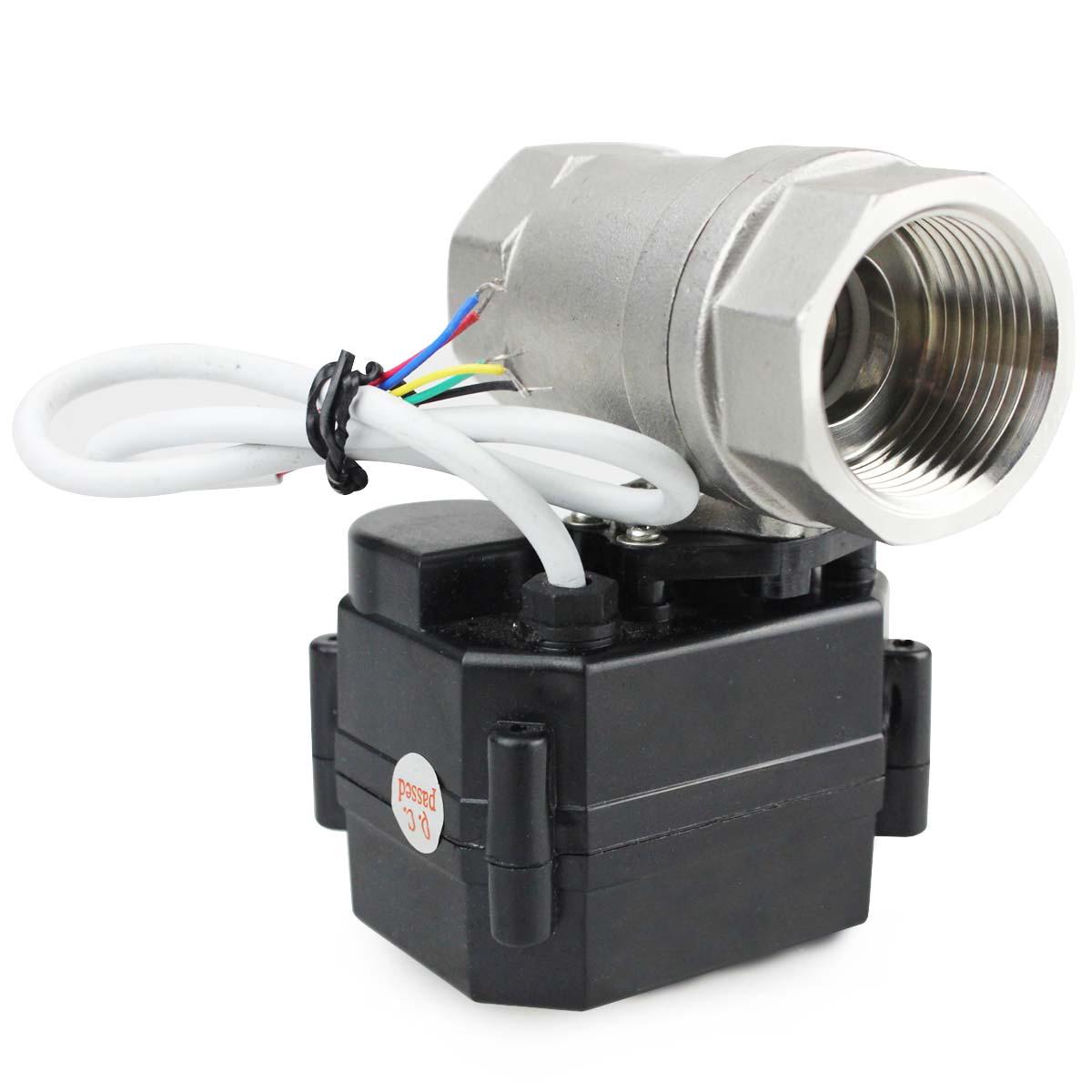 """HSH-Flo 12V//24VDC 1//2/"""" to 1/"""" SS304 Full Bore Motorized Electrical Ball Valve"""