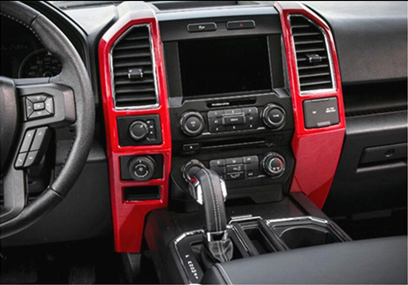 ABS Matte Car Console Center Dashboard Cover Trim Frame For Ford F150 2015-2018
