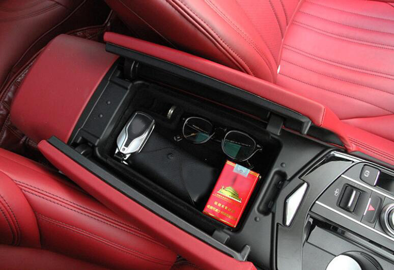 2014-2017 For Maserati Ghibli Center Console Armrest Storage Box Organizer Tray