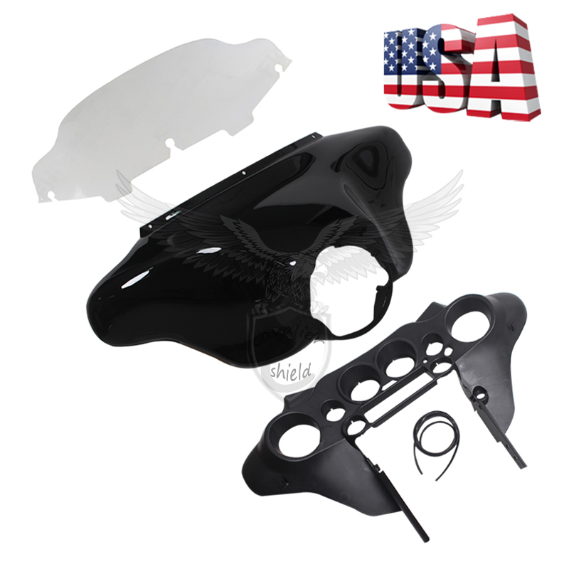 Motorcycle ABS Batwing Inner & Outer Fairing & 6\
