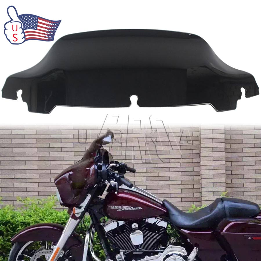 Ebay Motors Harley Davidson Street Glide User Manual Wiring Library Honeywell L6006c 1018 Diagram 7 Black Wave Windshield Windscreen For Touring 2014 2018 Us