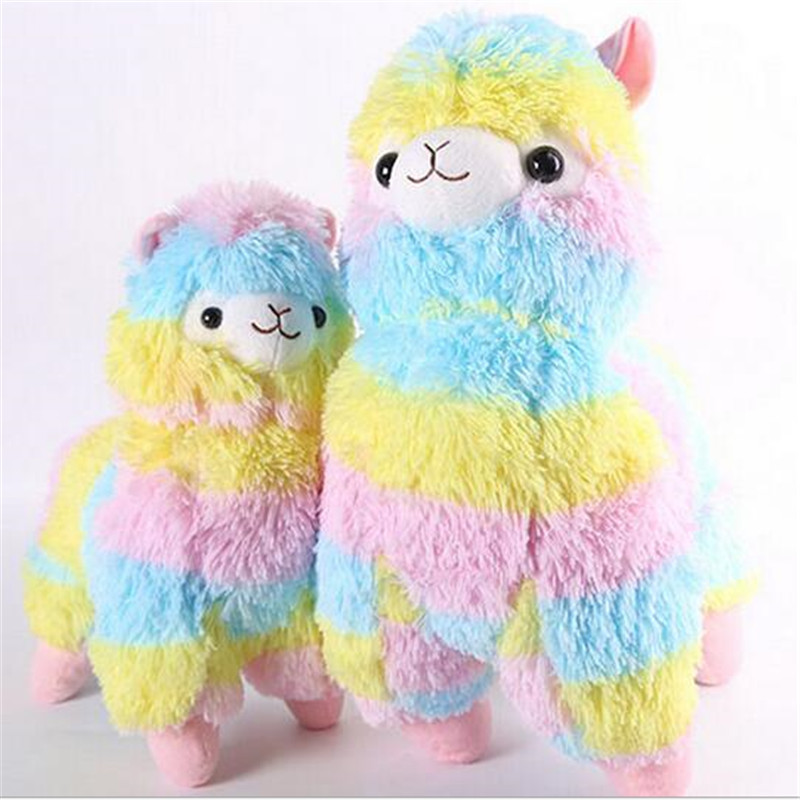 "NEW Japan Amuse Arpakasso Alpacasso colored Alpaca 14/"" Plush Doll"