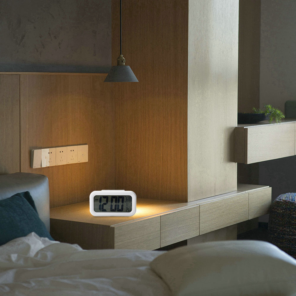 digital alarm wecker lcd digital uhr mit temperaturanzeige. Black Bedroom Furniture Sets. Home Design Ideas