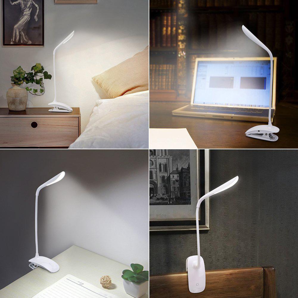 leselampe klemmleuchte led schreibtischlampe mit schwanenhals dimmbar touch usb ebay. Black Bedroom Furniture Sets. Home Design Ideas